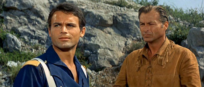Lex Barker and Terence Hill in Winnetou - 2. Teil (1964)