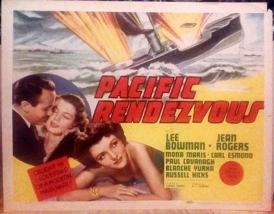 Lee Bowman, Paul Cavanagh, Carl Esmond, Mona Maris, Jean Rogers, and Blanche Yurka in Pacific Rendezvous (1942)