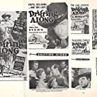 Johnny Mack Brown, Lynne Carver, Raymond Hatton, and Rebel in Drifting Along (1946)