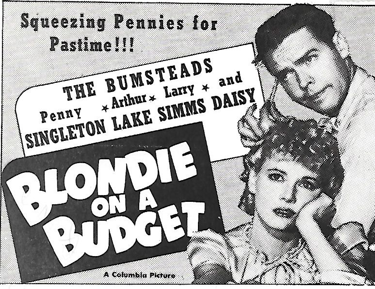 Arthur Lake and Penny Singleton in Blondie on a Budget (1940)