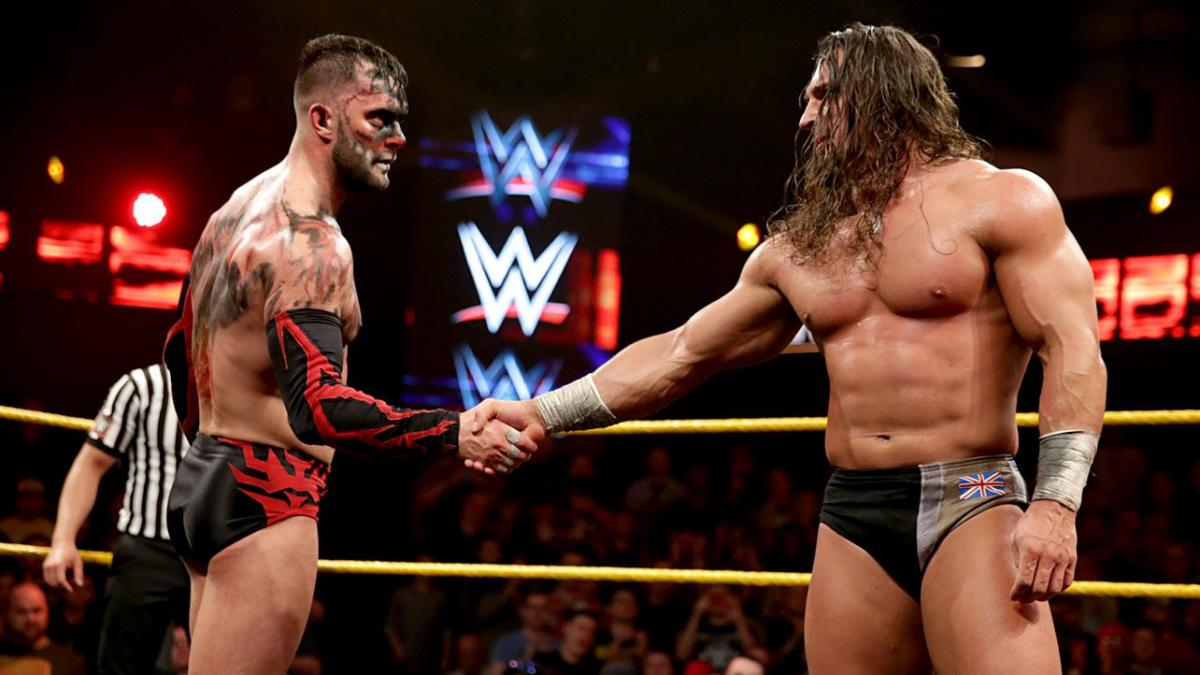 Fergal Devitt and Ben Satterly in NXT Takeover: Rival (2015)