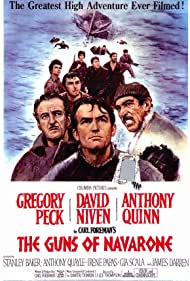 David Niven, Gregory Peck, and Anthony Quinn in The Guns of Navarone (1961)