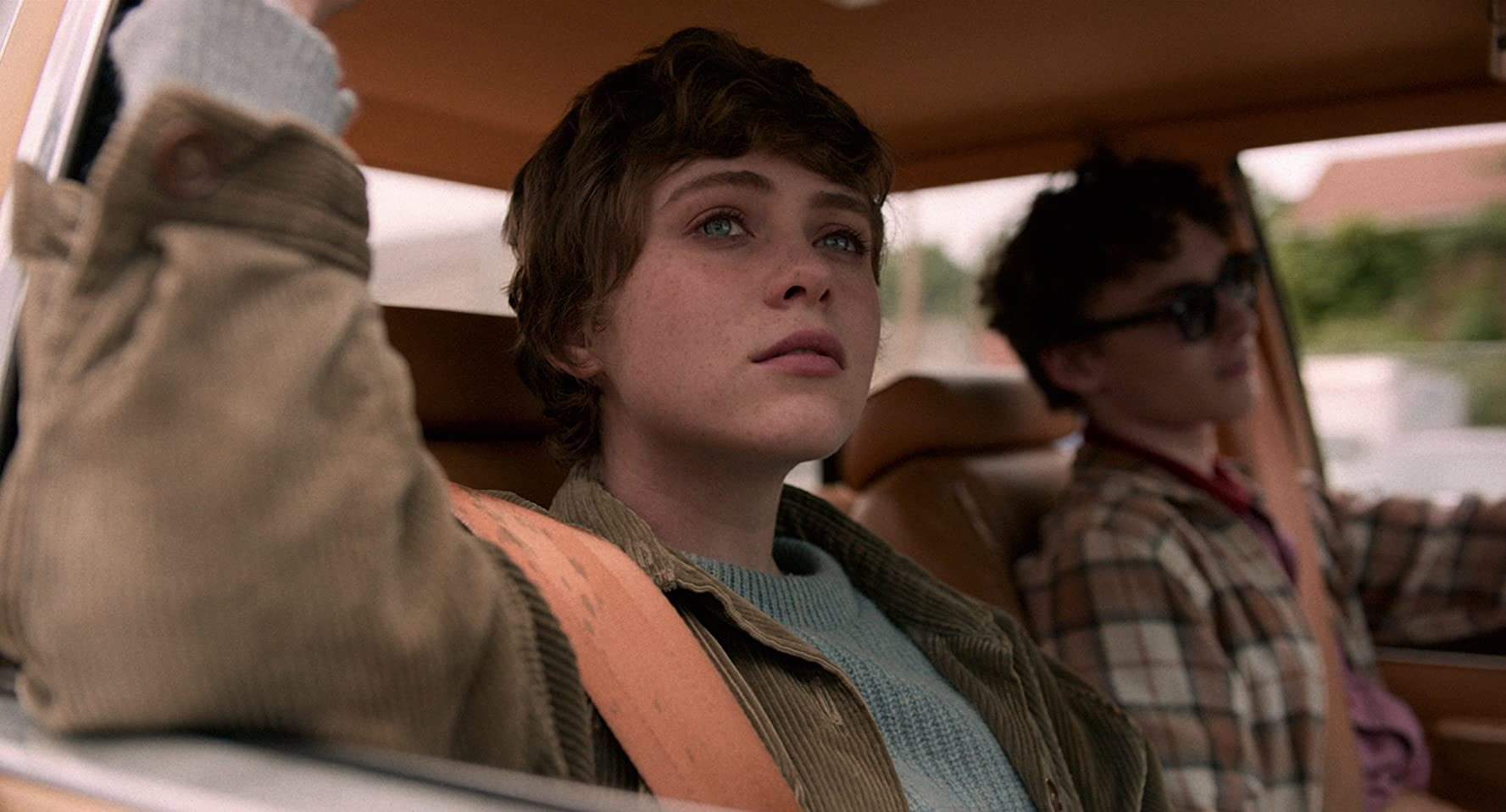 Wyatt Oleff and Sophia Lillis in I Am Not Okay with This (2020)