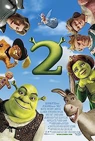 John Cleese, Antonio Banderas, Cameron Diaz, Mike Myers, Julie Andrews, Rupert Everett, Eddie Murphy, Jennifer Saunders, and Conrad Vernon in Shrek 2 (2004)