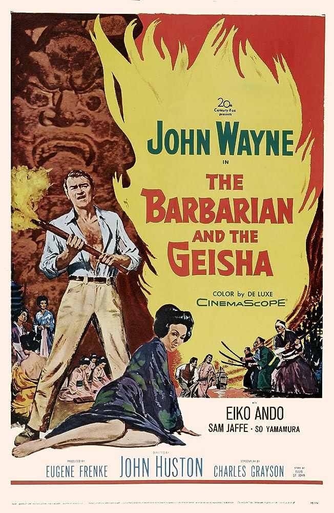 John Wayne and Eiko Ando in The Barbarian and the Geisha (1958)