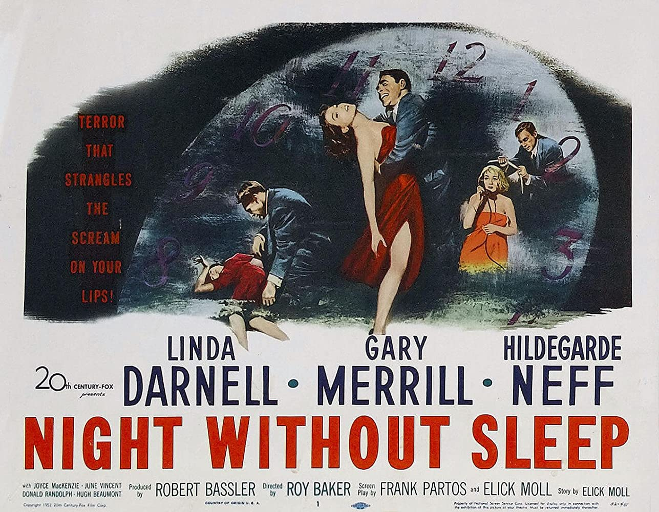 Hildegard Knef and Gary Merrill in Night Without Sleep (1952)