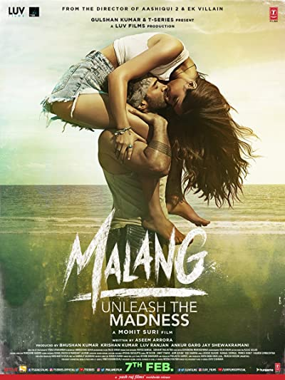 Poster of Malang 2020 Full Hindi Free Download Watch Online In HD Movie Download 720p PreDVDRip