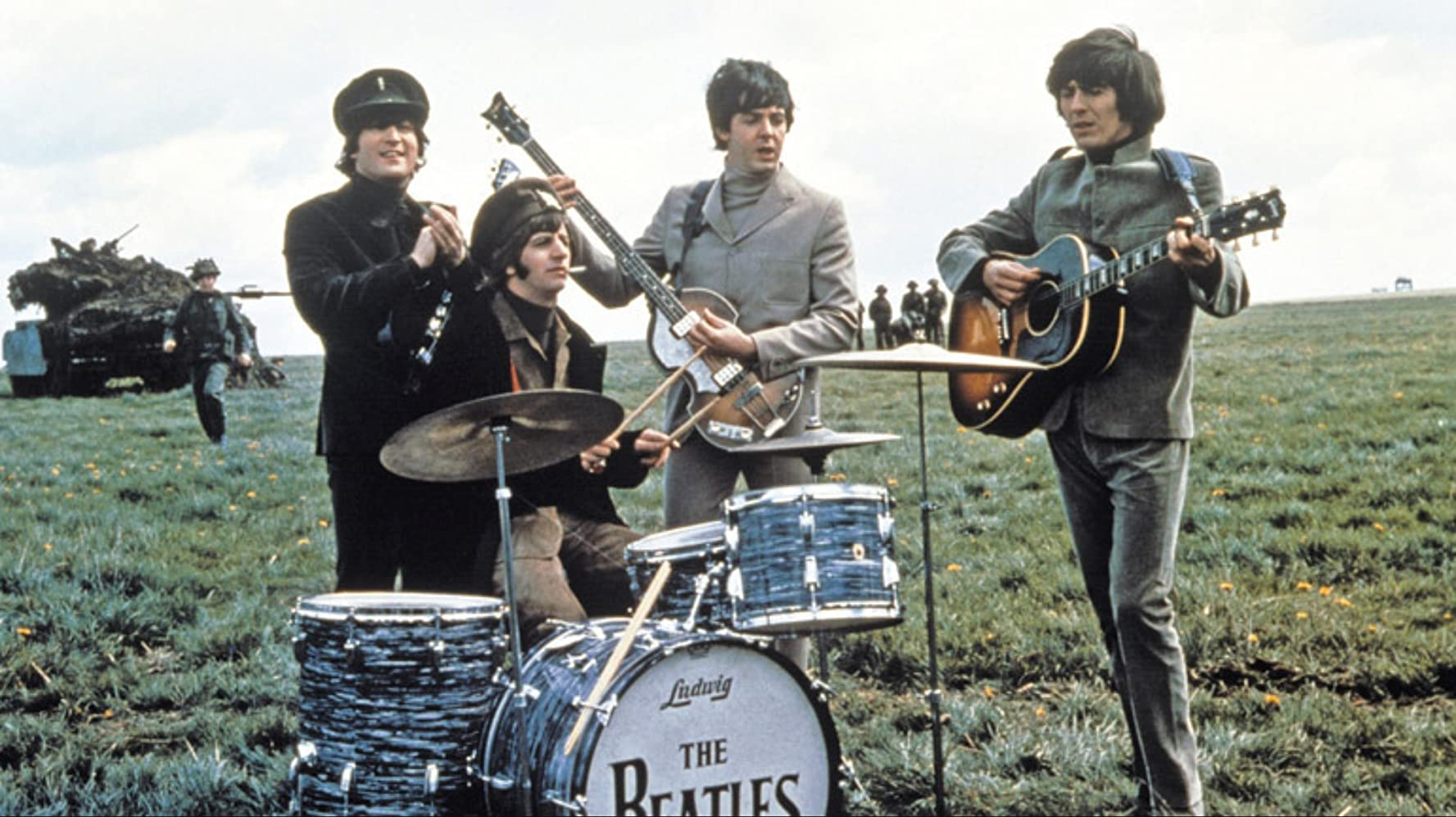 Paul McCartney, John Lennon, George Harrison, Ringo Starr, and The Beatles in Help! (1965)