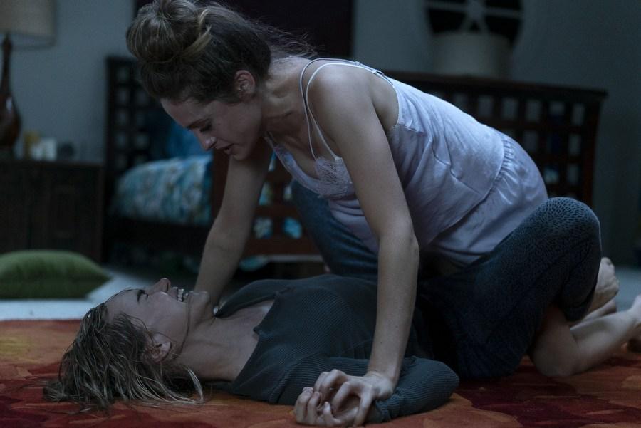Carly Chaikin and Suki Waterhouse in Into the Dark (2018)