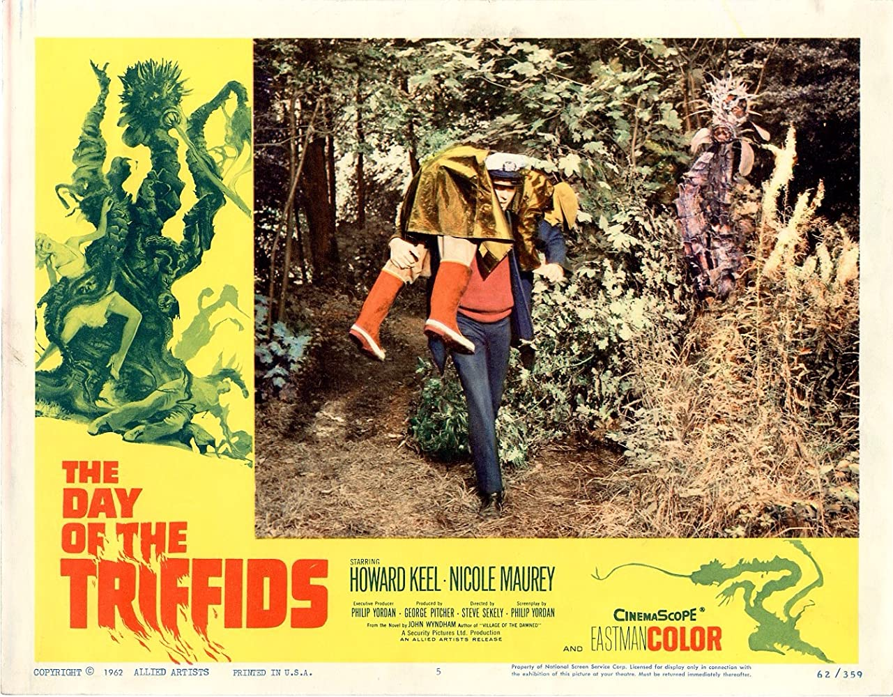 Mervyn Johns and Howard Keel in The Day of the Triffids (1963)