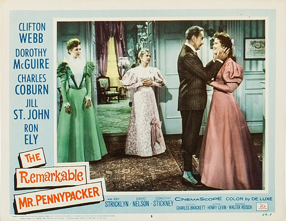 Jill St. John, Dorothy McGuire, Dorothy Stickney, and Clifton Webb in The Remarkable Mr. Pennypacker (1959)