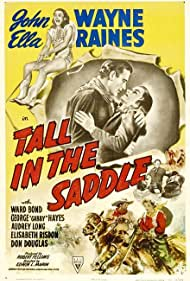 John Wayne and Ella Raines in Tall in the Saddle (1944)