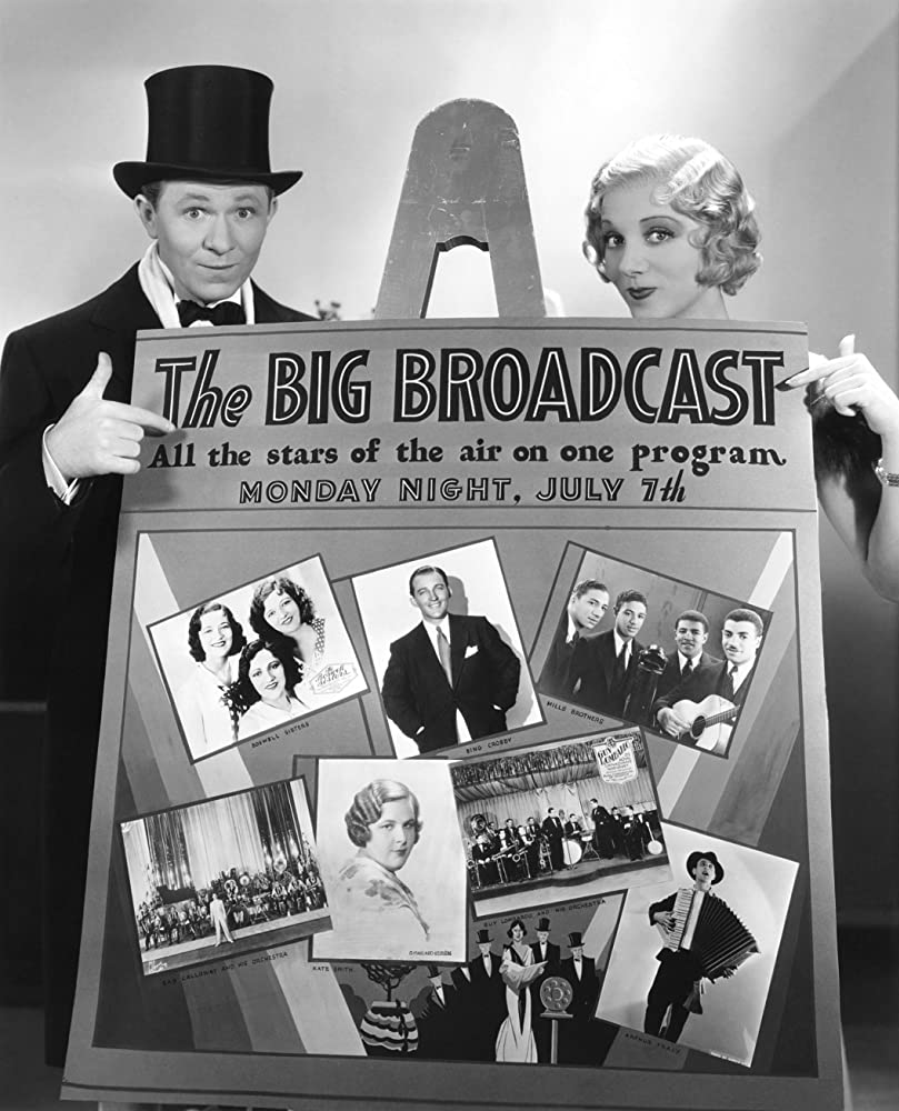Bing Crosby, Connee Boswell, Martha Boswell, Vet Boswell, Cab Calloway, Stuart Erwin, Leila Hyams, Donald Mills, Harry Mills, Herbert Mills, John Mills, Donald Novis, Kate Smith, Arthur Tracy, The Boswell Sisters, and The Mills Brothers in The Big Broadcast (1932)