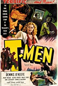 Mary Meade and Dennis O'Keefe in T-Men (1947)