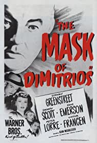 Peter Lorre, Sydney Greenstreet, Faye Emerson, and Zachary Scott in The Mask of Dimitrios (1944)
