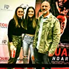 James with two of his daughters at Equal Standard screening