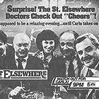 John Ratzenberger, George Wendt, William Daniels, Ed Flanders, Norman Lloyd, and Rhea Perlman in St. Elsewhere (1982)