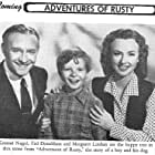 Ted Donaldson, Margaret Lindsay, and Conrad Nagel in Adventures of Rusty (1945)