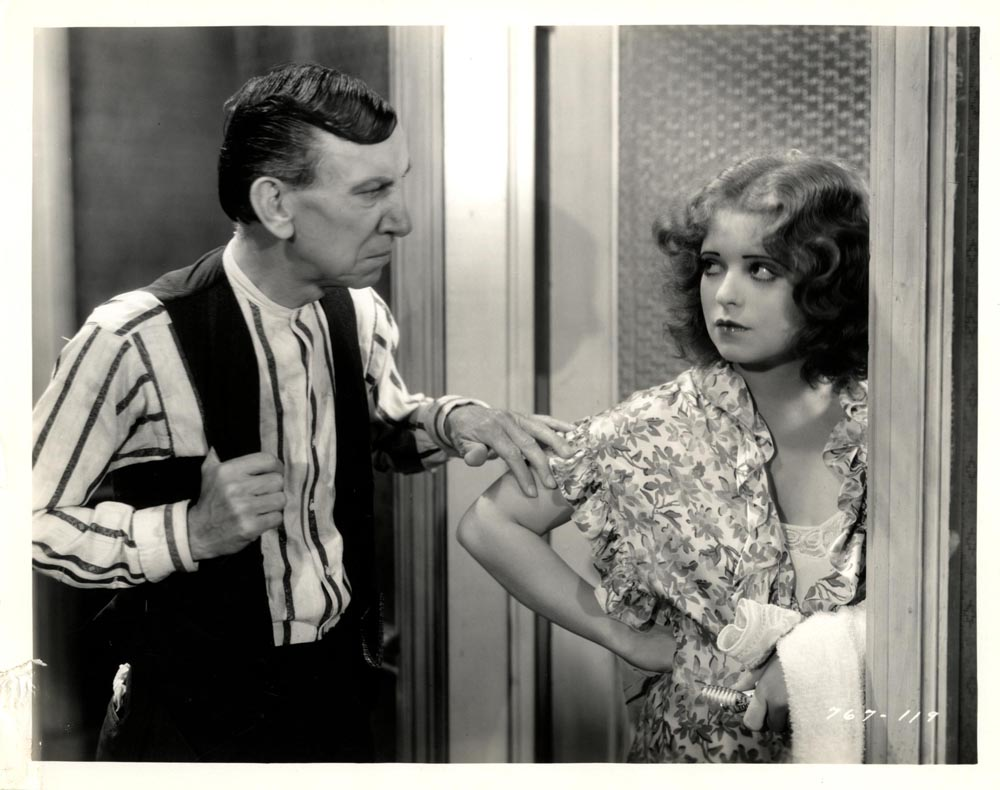 Clara Bow and Charles Sellon in The Saturday Night Kid (1929)