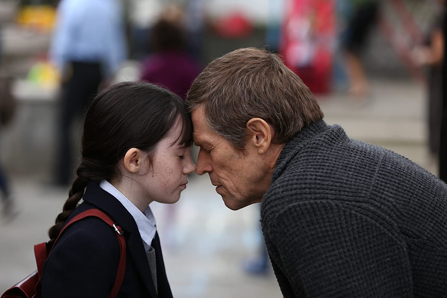 Willem Dafoe dan Clara Read dalam What Happened to Monday (2017)