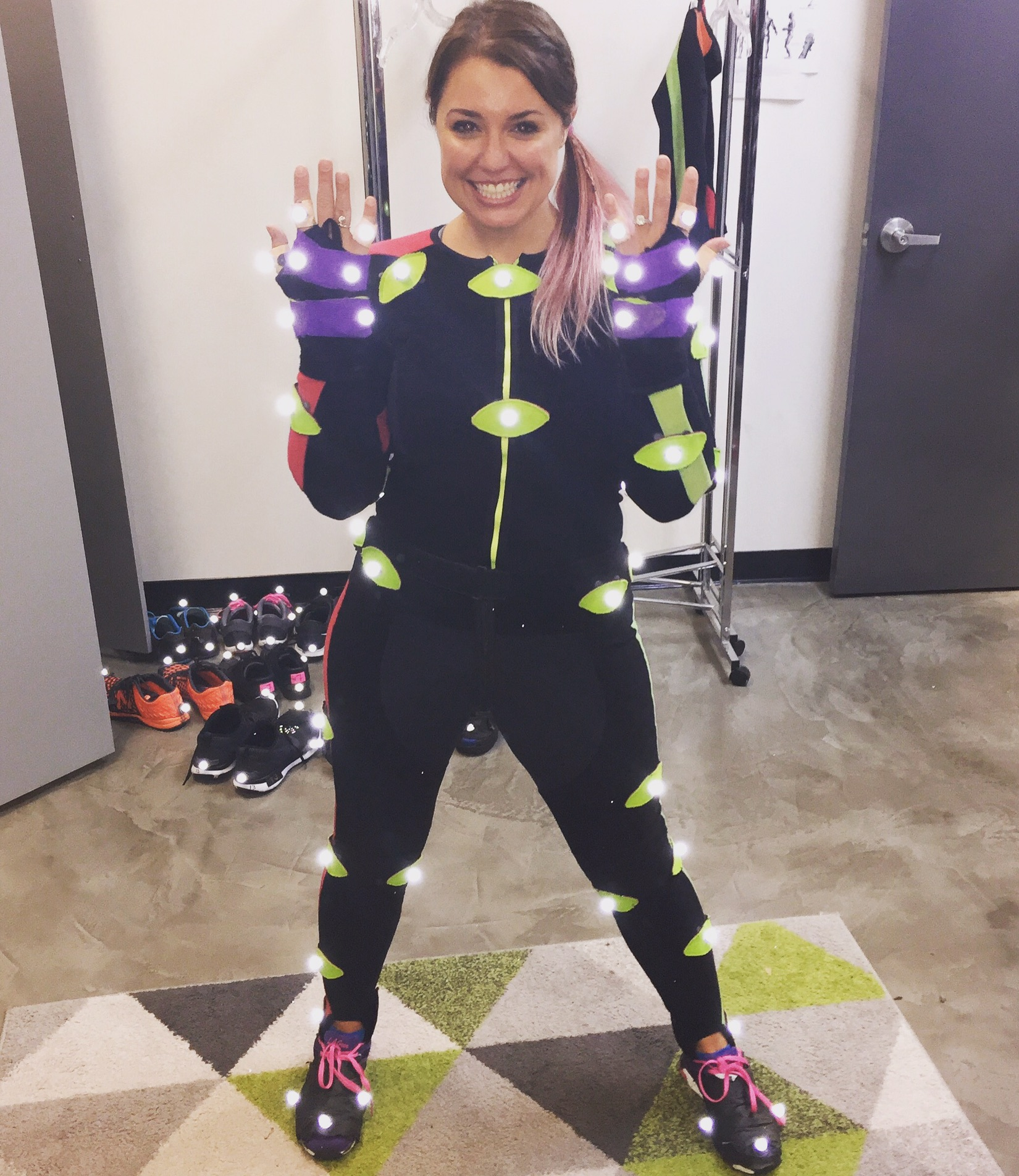 Kirsten Day performing motion capture at the House of Moves