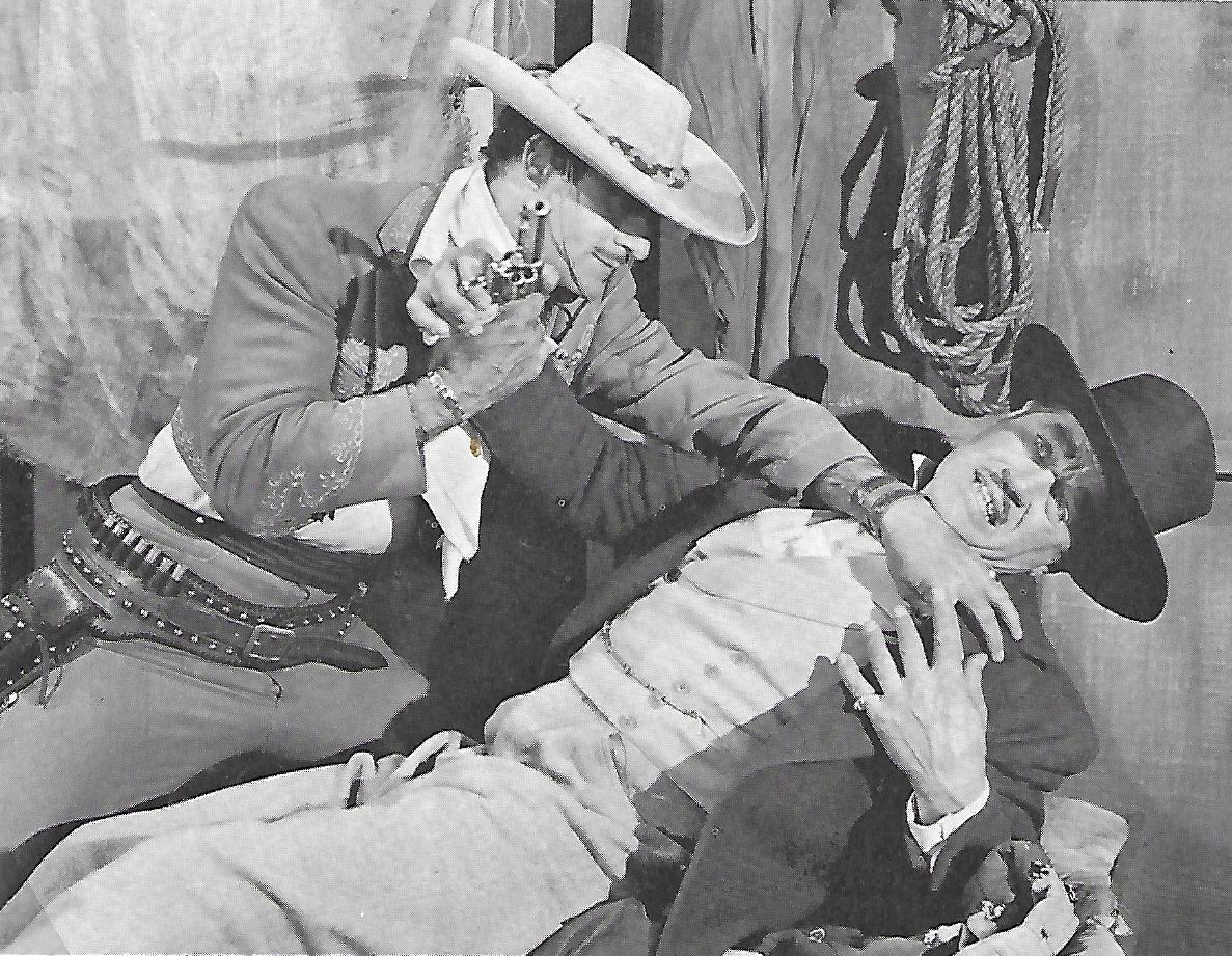Gilbert Roland and Harry Woods in South of Monterey (1946)