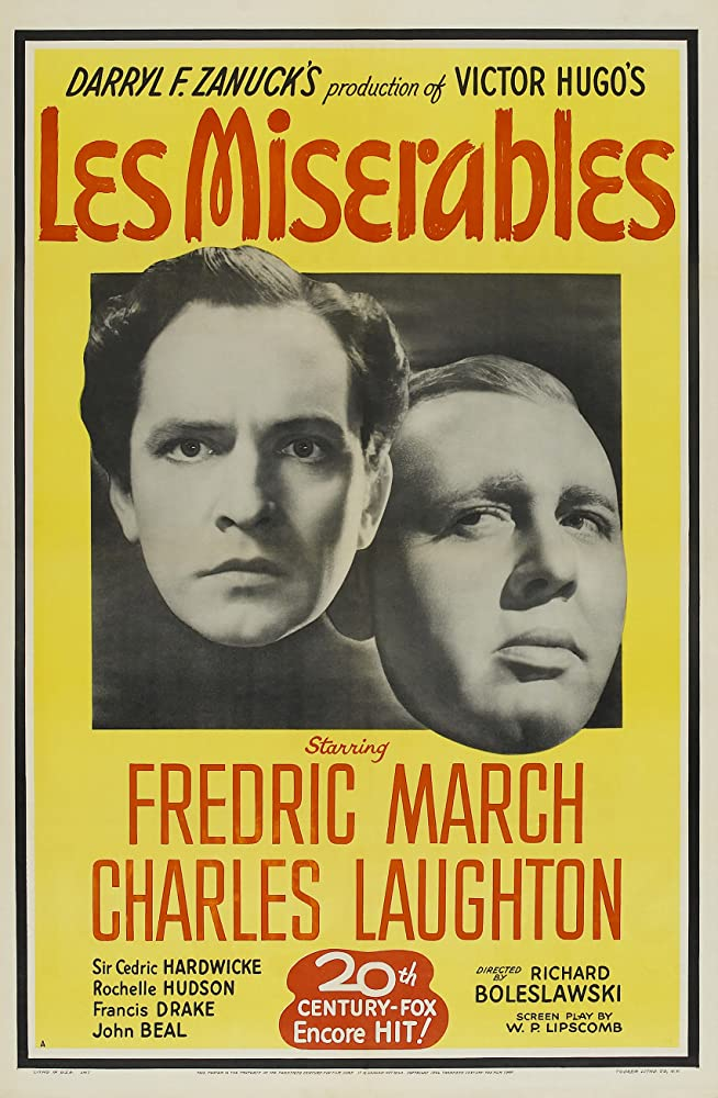Charles Laughton and Fredric March in Les Misérables (1935)