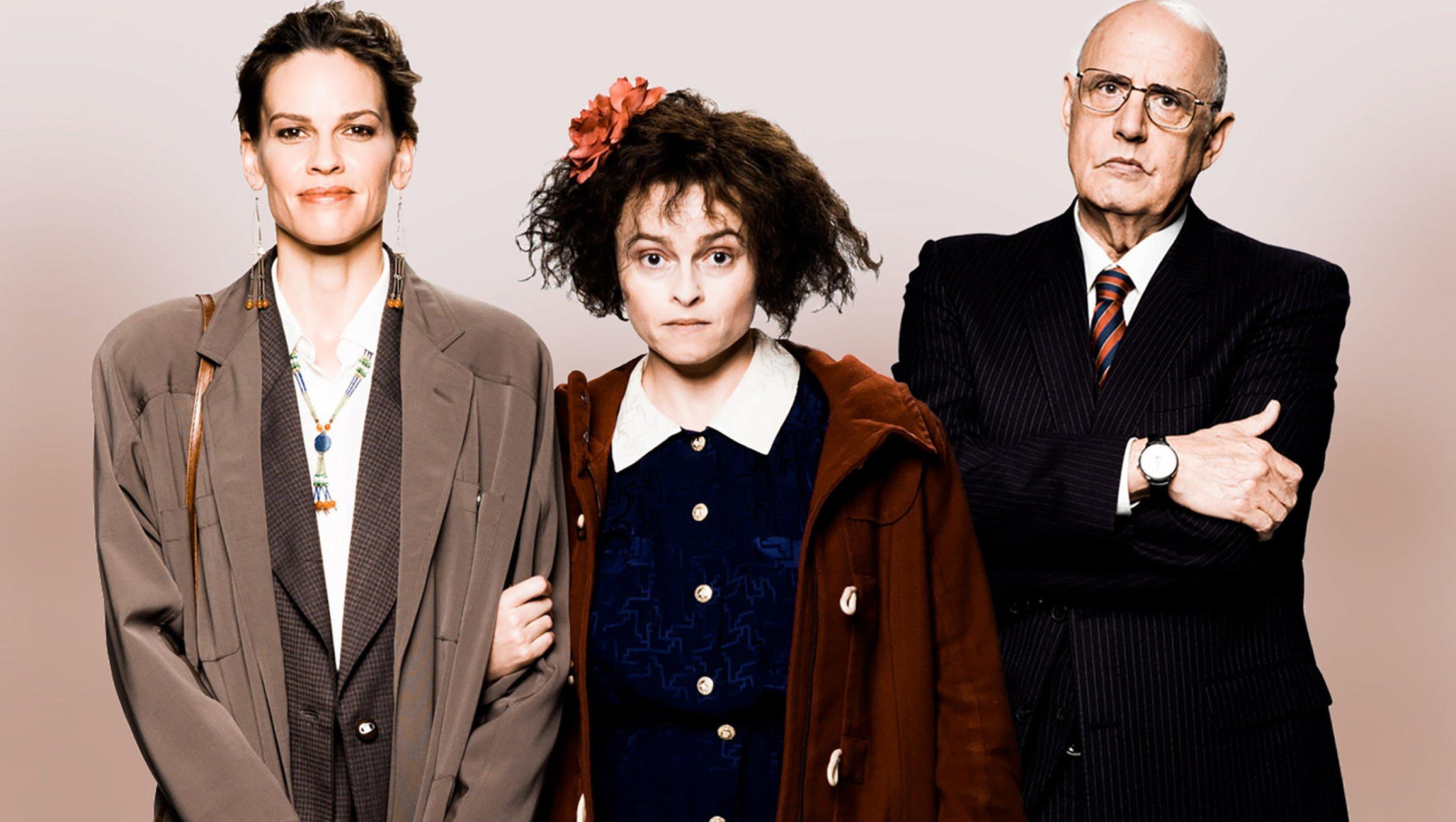 Helena Bonham Carter, Jeffrey Tambor, and Hilary Swank in 55 Steps (2017)
