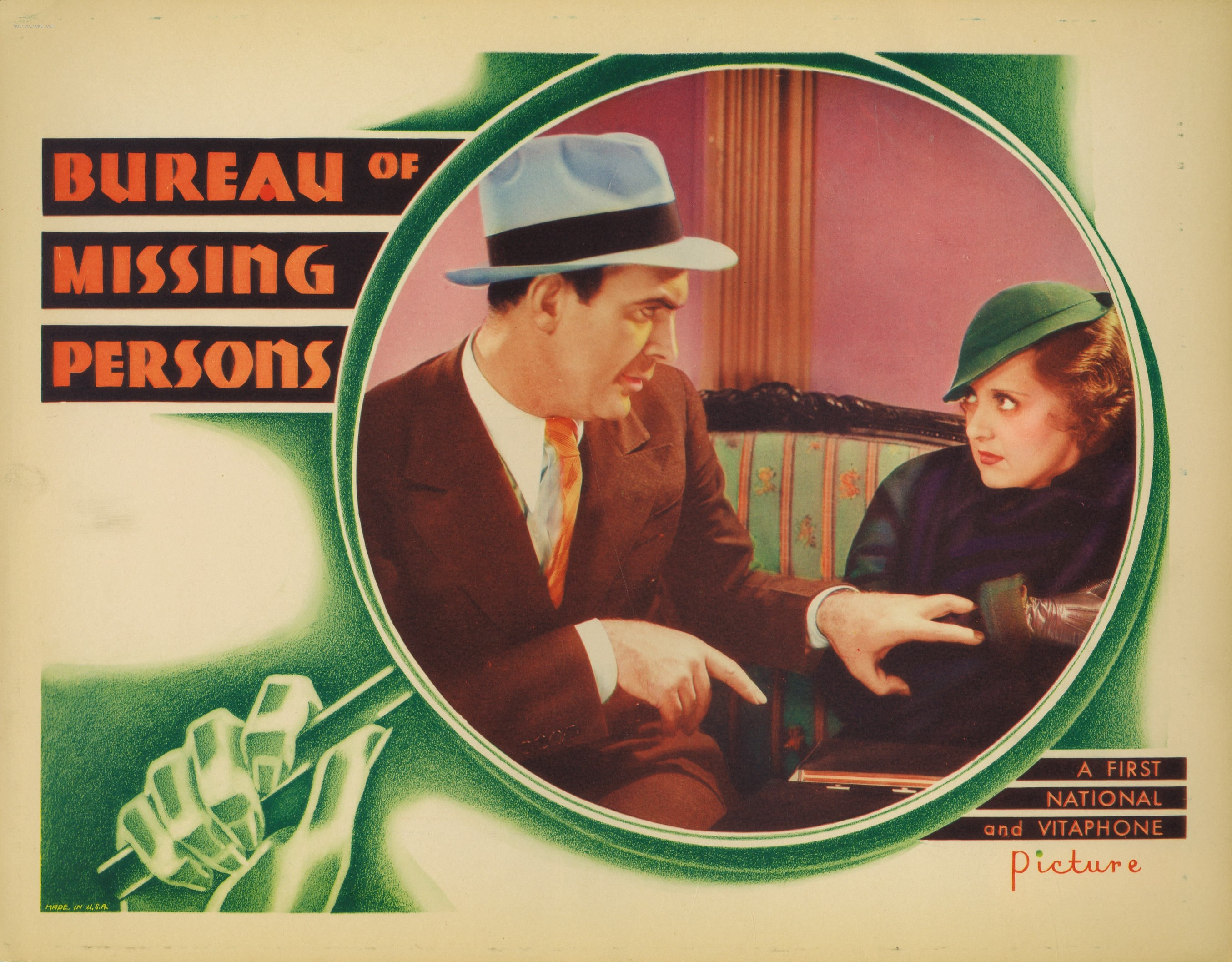 Bette Davis and Pat O'Brien in Bureau of Missing Persons (1933)