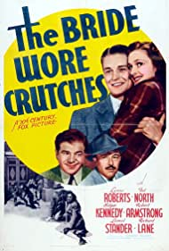 Robert Armstrong, Ted North, Lynne Roberts, and Lionel Stander in The Bride Wore Crutches (1940)
