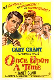 Cary Grant, Janet Blair, Ted Donaldson, and James Gleason in Once Upon a Time (1944)
