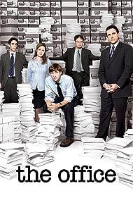 Steve Carell, Jenna Fischer, Rainn Wilson, John Krasinski, and B.J. Novak in The Office (2005)