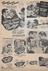 Don Ameche, Eddie 'Rochester' Anderson, Virginia Dale, and Mary Martin in Kiss the Boys Goodbye (1941)