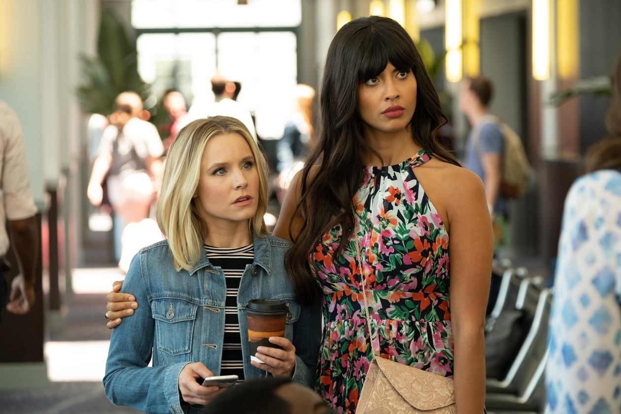 Kristen Bell and Jameela Jamil in The Good Place (2016)