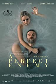 Tomasz Kot and Athena Strates in A Perfect Enemy (2020)