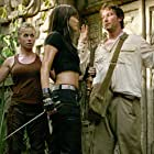 Noah Wyle, Kelly Hu, and Sonya Walger in The Librarian: Quest for the Spear (2004)