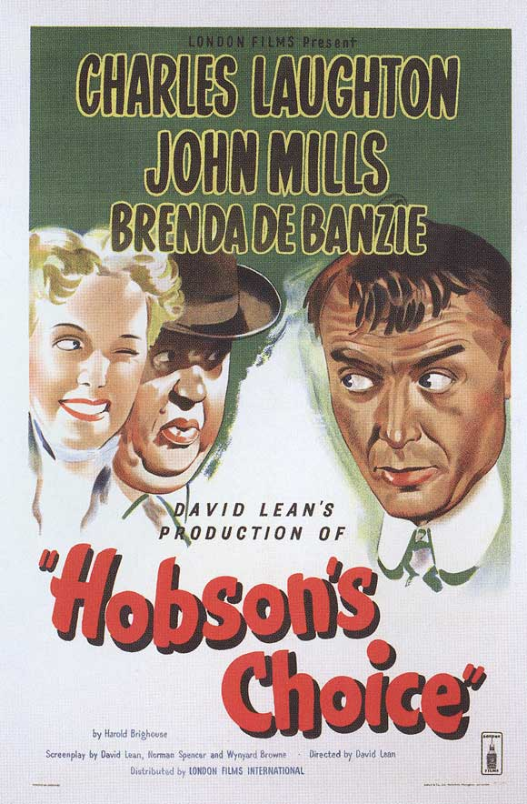 Charles Laughton, Brenda de Banzie, and John Mills in Hobson's Choice (1954)