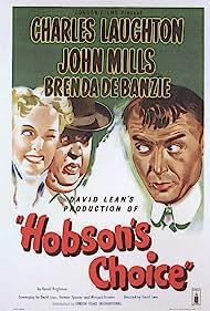 Charles Laughton, Brenda de Banzie, and John Mills in Hobson's Choice (1954)