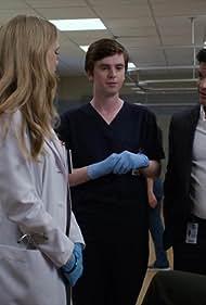 Nicholas Gonzalez, Freddie Highmore, and Fiona Gubelmann in The Good Doctor (2017)