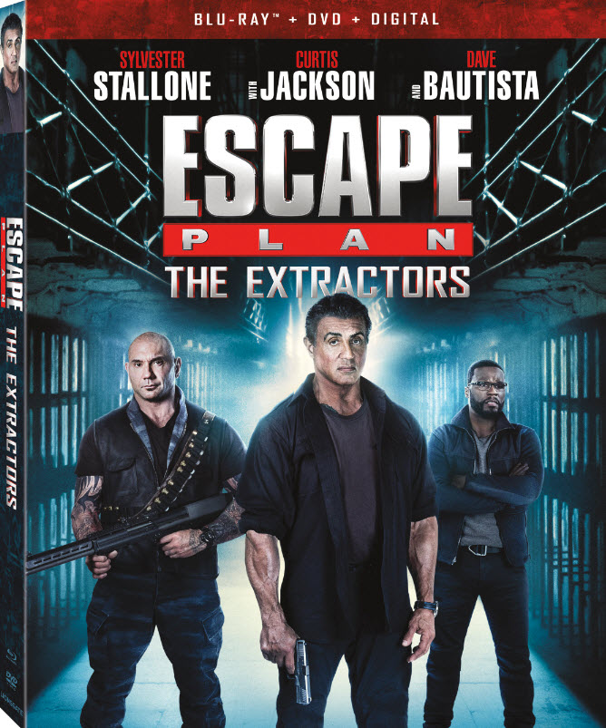Sylvester Stallone, Devon Sawa, Jaime King, Dave Bautista, and Harry Shum Jr. in Escape Plan: The Extractors (2019)
