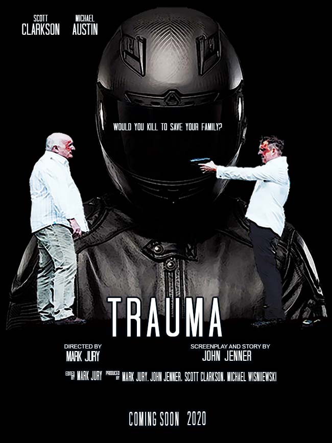 Mark Jury, Scott Clarkson, John Jenner, and Michael Austin in Trauma (2020)