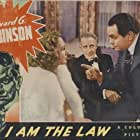 Edward G. Robinson, Wendy Barrie, and Otto Kruger in I Am the Law (1938)