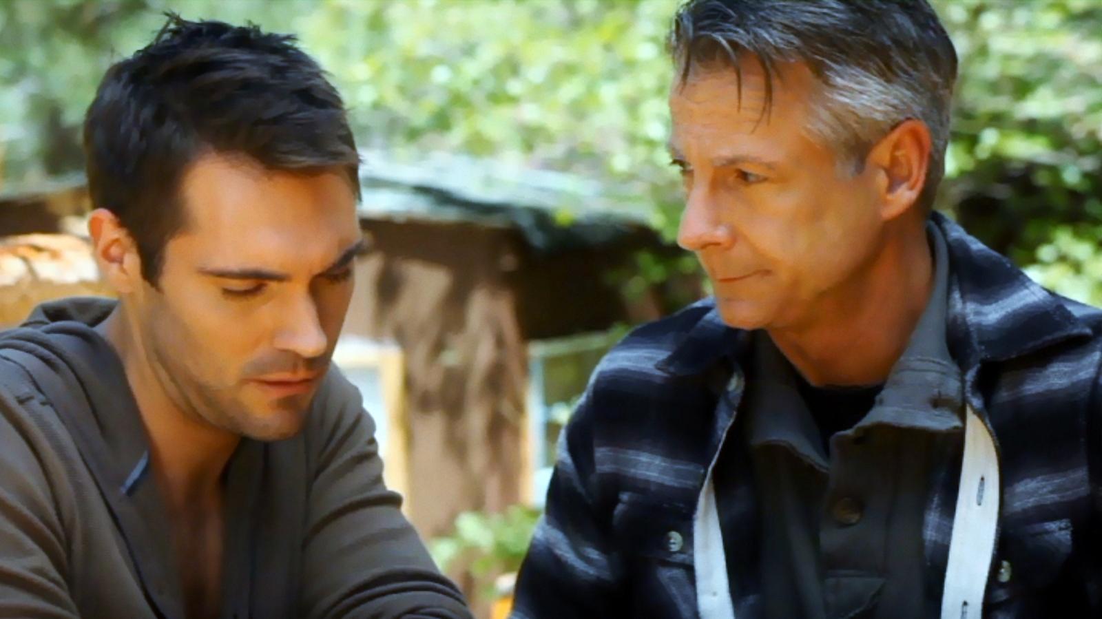 """Michael Nicklin and Benjamin Lutz in """"The Men Next Door"""""""