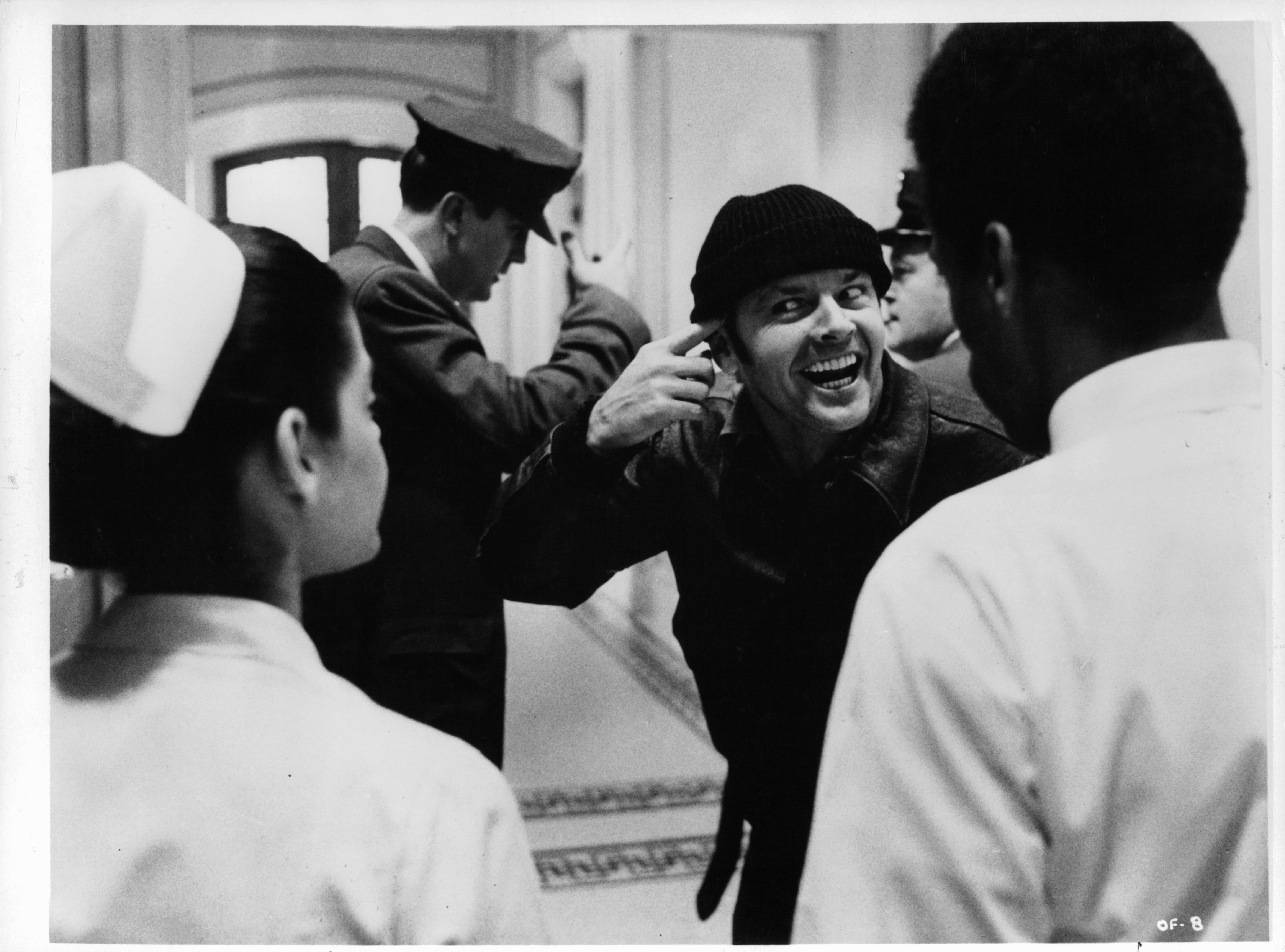 Jack Nicholson and Lan Fendors in One Flew Over the Cuckoo's Nest (1975)