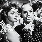 Robert Manuel and Nadja Tiller in Le désordre et la nuit (1958)