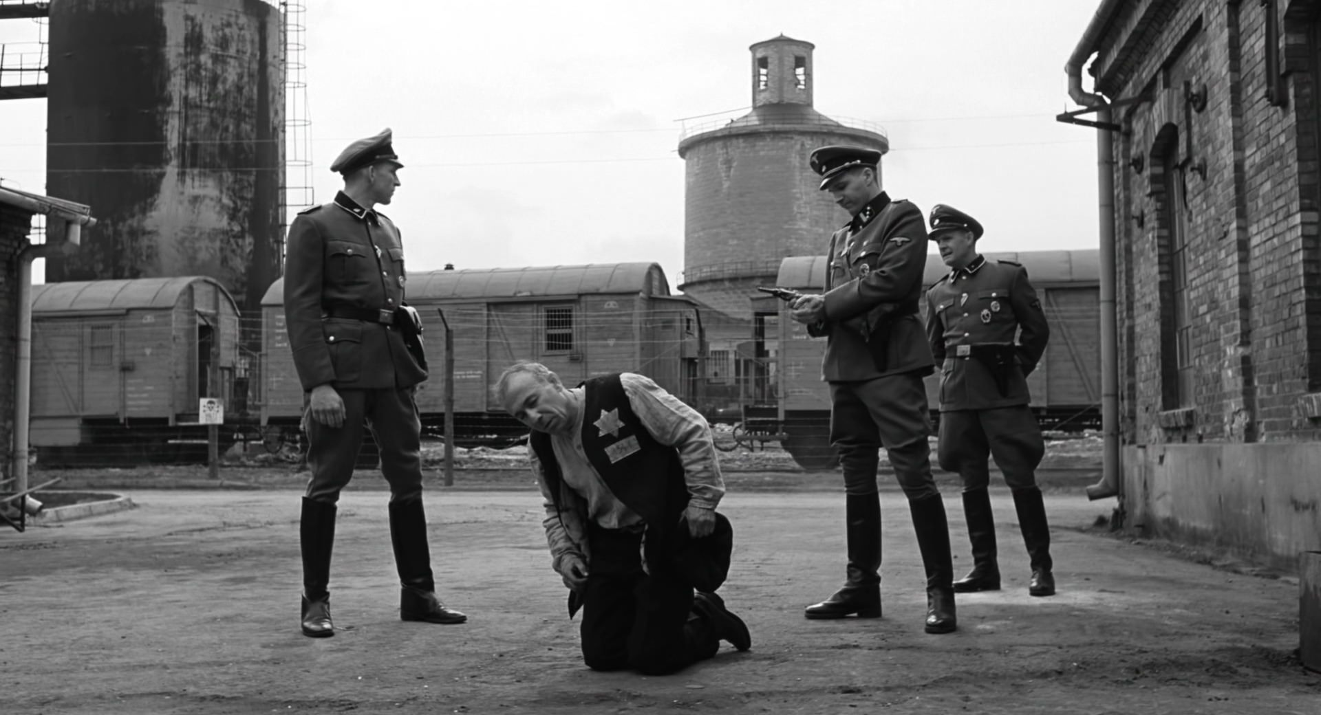 Ralph Fiennes, Ezra Dagan, Jochen Nickel, and Norbert Weisser in Schindler's List (1993)