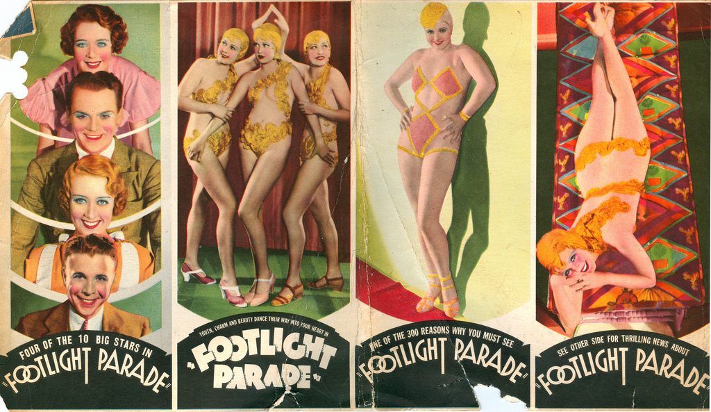 James Cagney, Joan Blondell, Lynn Browning, Margaret Carthew, Peggy Graves, Ruby Keeler, Dick Powell, Pat Fara, and Azelie Cecil in Footlight Parade (1933)