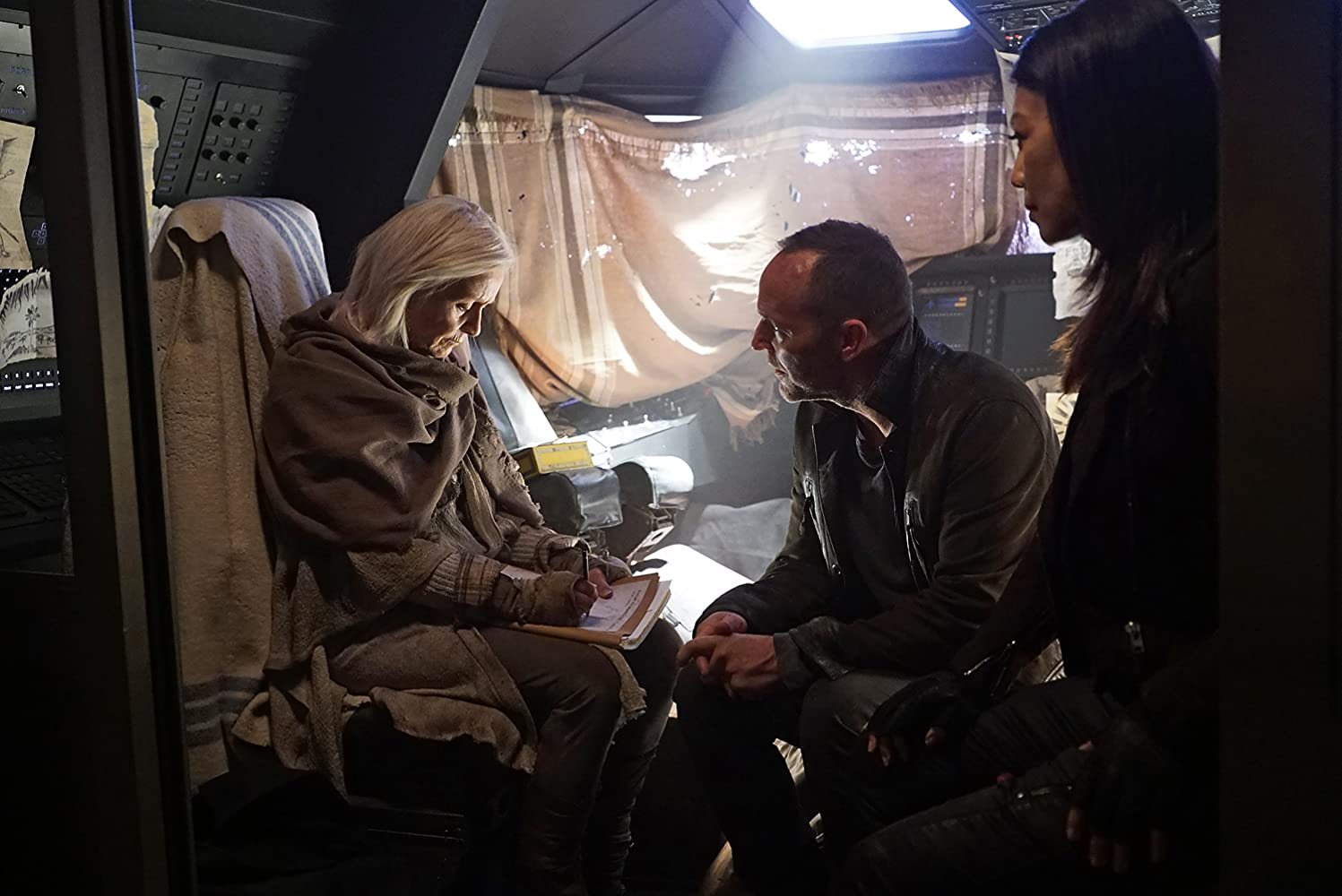 Ming-Na Wen, Clark Gregg, and Willow Hale in Agents of S.H.I.E.L.D. (2013)