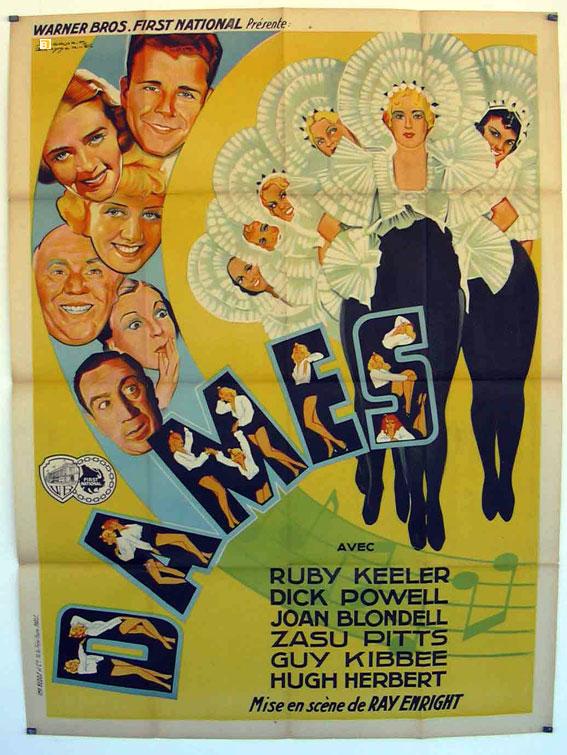 Joan Blondell, Hugh Herbert, Loretta Andrews, De Don Blunier, Diane Bourget, Diane Douglas, Ruby Keeler, Guy Kibbee, Marie Marks, Zasu Pitts, Dick Powell, and Mary Rosetti in Dames (1934)