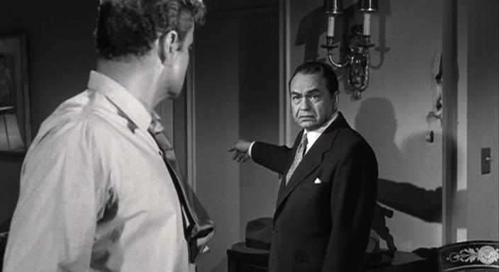 Edward G. Robinson and Brian Keith in Tight Spot (1955)